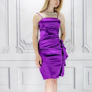 Blondie Nites Purple Slip Dress